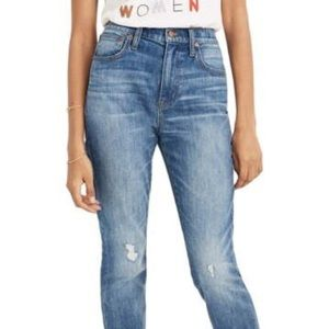 Madewell The High Waist Crop Slim Boy Jeans